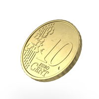 10 Cent Euro Coin PNG & PSD Images