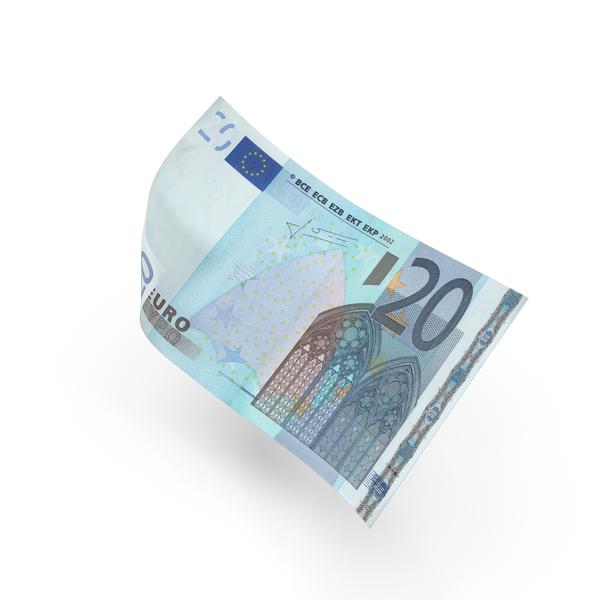 20 Euro Bill Object