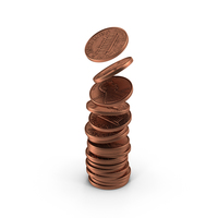 US Penny Stack PNG & PSD Images