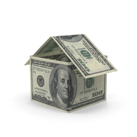 100 Dollar Bill House PNG & PSD Images