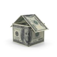 100 Dollar Bill House Object
