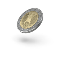 2 Euro Coin Flip PNG & PSD Images