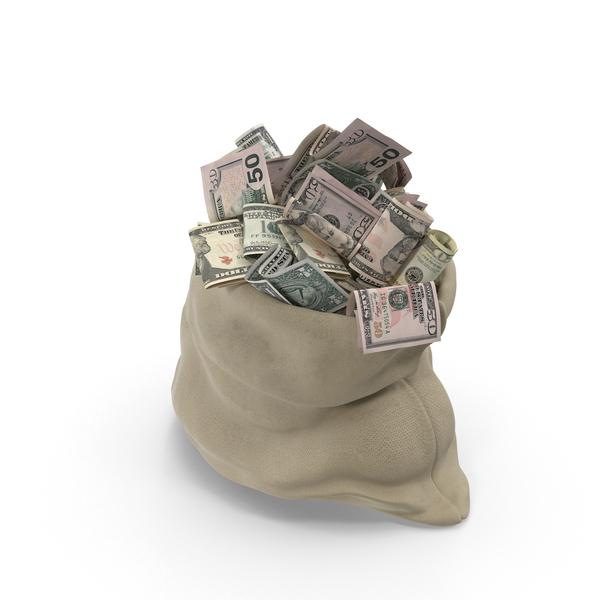 Open Money Bag Object