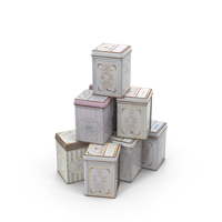 Tea Canisters PNG & PSD Images
