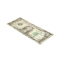 1 Dollar Bill Distressed Object
