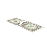 1 Dollar Bill Torn PNG & PSD Images