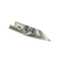 100 Dollar Bill Paper Airplane PNG & PSD Images