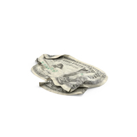 1 Dollar Bill Crumpled PNG & PSD Images