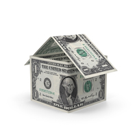 1 Dollar Bill House PNG & PSD Images