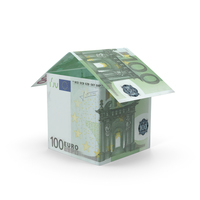 100 Euro Bill House PNG & PSD Images