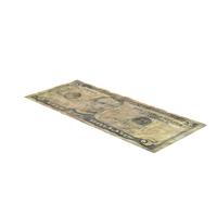 US 5 Dollar Bill Distressed  Object