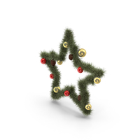 Christmas Star Wreath PNG & PSD Images