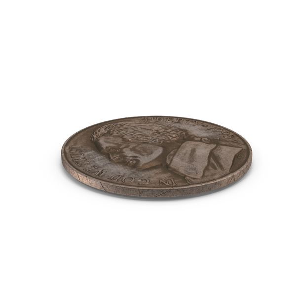 US Nickel Aged PNG & PSD Images