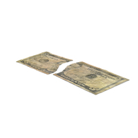 US 5 Dollar Bill Torn PNG & PSD Images