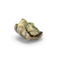US 5 Dollar Bill Crumpled PNG & PSD Images