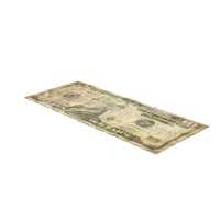 US 10 Dollar Bill Distressed PNG & PSD Images