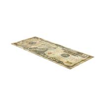 US 10 Dollar Bill Distressed Object