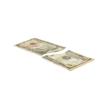 US 10 Dollar Bill Torn PNG & PSD Images