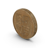 British Pound Coin Aged Object
