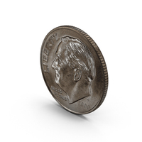 US Dime Aged Object