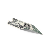 1 Dollar Bill Paper Airplane PNG & PSD Images
