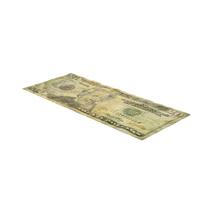 US 20 Dollar Bill Distressed Object