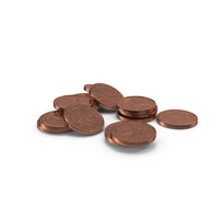 Euro 2 Cent Coin Pile PNG & PSD Images