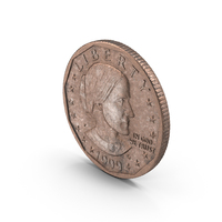 Susan B. Anthony Silver Dollar Aged PNG & PSD Images