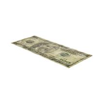 US 100 Dollar Bill Distressed Object