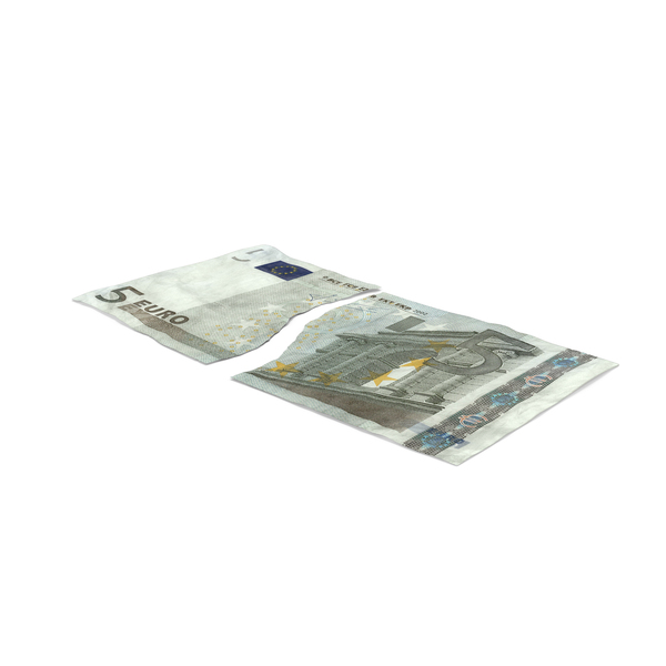 5 Euro Bill Torn PNG & PSD Images