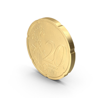 German 20 Cent Euro Coin PNG & PSD Images