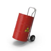Handtruck and Biohazard Barrel PNG & PSD Images