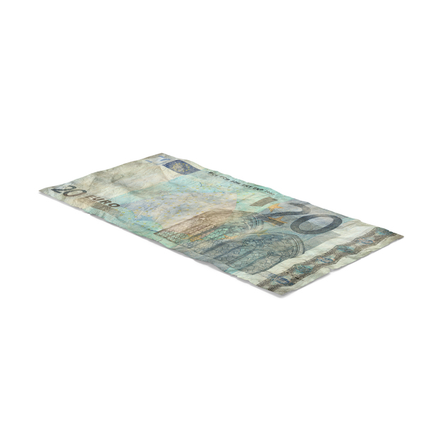 20 Euro Bill Distressed PNG & PSD Images