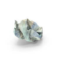 20 Euro Bill Crumpled PNG & PSD Images
