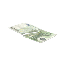 100 Euro Bill Torn PNG & PSD Images