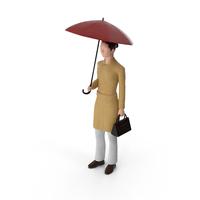 Miniature Woman Traveler PNG & PSD Images