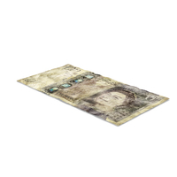 20 Pound Note Distressed PNG & PSD Images