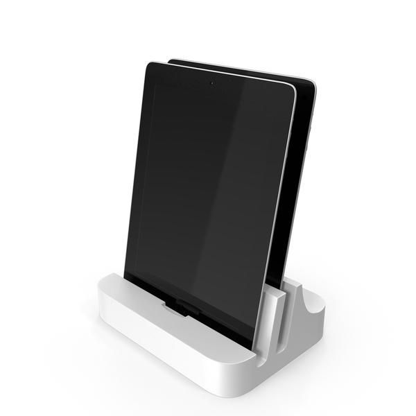 Modern Tablet Docking Station PNG & PSD Images