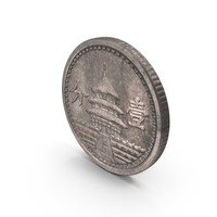 1 Fen Chinese Coin Aged PNG & PSD Images