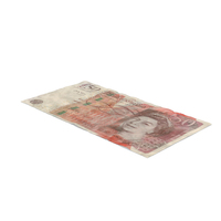 50 Pound Note Distressed PNG & PSD Images