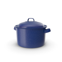 Enameled Dutch Oven with Lid PNG & PSD Images