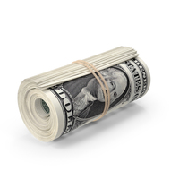 Roll of One Dollar Bills PNG & PSD Images