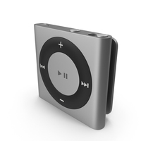 iPod Shuffle Silver PNG & PSD Images