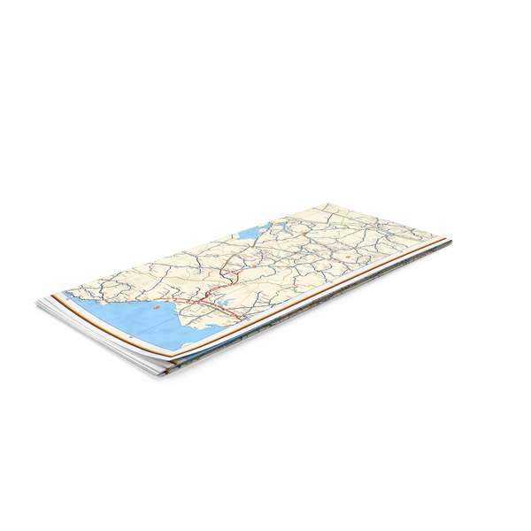 Folded Map PNG & PSD Images