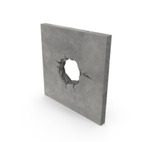 Structural Impact in Concrete (Cannonball) PNG & PSD Images