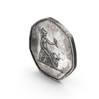 50 Pence Coin Aged PNG & PSD Images