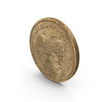 10 Ruble Coin Aged PNG & PSD Images