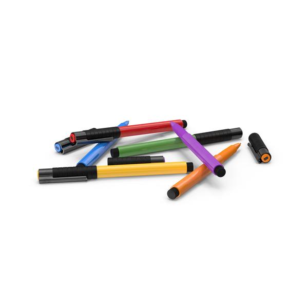 Artist Pens PNG & PSD Images