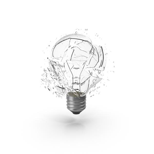 Shattered Light Bulb PNG & PSD Images