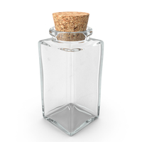 Glass Jar with Cork Stopper PNG & PSD Images